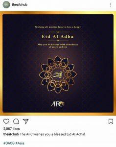 AFC 11 Sh 237x300 - پیام تبریک AFC به مناسبت عید قربان