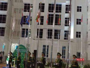 Olampic Turkmen 4 300x225 - پرچم ایران در دهکده بازیهای داخل سالن به اهتزاز درآمد+ تصاویر
