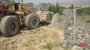 Takhrib 14 Sh 300x169 - 14 بنای غیر مجاز در زمینهای کشاورزی کردکوی تخریب شد