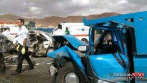 Tasadof 23 Sh 300x169 - 13 مصدوم در تصادف دو خودرو جاده آزادشهر - شاهرود