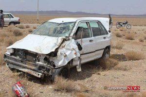Tasadof Prid 16 Sh 300x200 - مصدومیت 6 سرنشین پرايد بر اثر واژگونی در منطقه مرزی گنبدکاووس