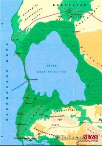 po3 3m 209x300 - ترکمنستان در باریکه خلیج «قَرَهبُغاز» در دریای خزر پل میسازد+تصاویر