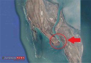 pol1 3m 300x209 - ترکمنستان در باریکه خلیج «قَرَهبُغاز» در دریای خزر پل میسازد+تصاویر