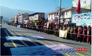 rejegolestan 31sh 300x185 - نیروهای مسلح در ۵ شهر گلستان رژه برگزار کردند