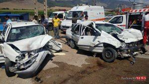 tasadof 24sh 300x169 - دو تصادف در شرق گلستان دو کشته و 11 مصدوم برجای گذاشت