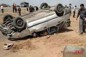 vajegoonip 1m 300x200 - بر اثر واژگونی پراید در جاده مرزی گنبدکاووس دو نفر روانه بیمارستان شدند